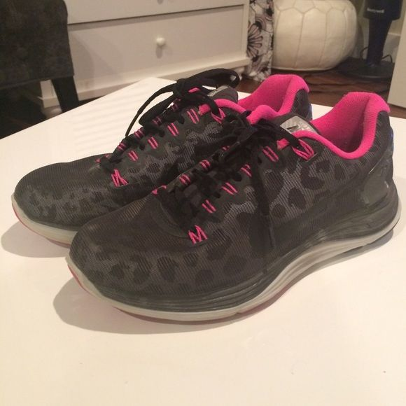 Nike Leopard Print Shoes Only worn a couple times.  Inside and soles are in almost new condition!  (Soles are not worn down at all.). Shoe laces and tops of shoes look almost new. Nike Shoes Athletic Shoes