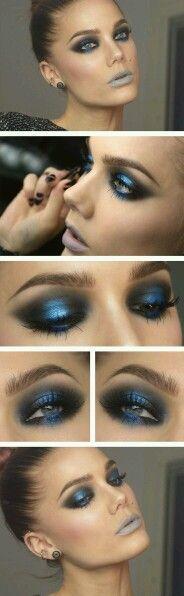 Dark make up for an evening