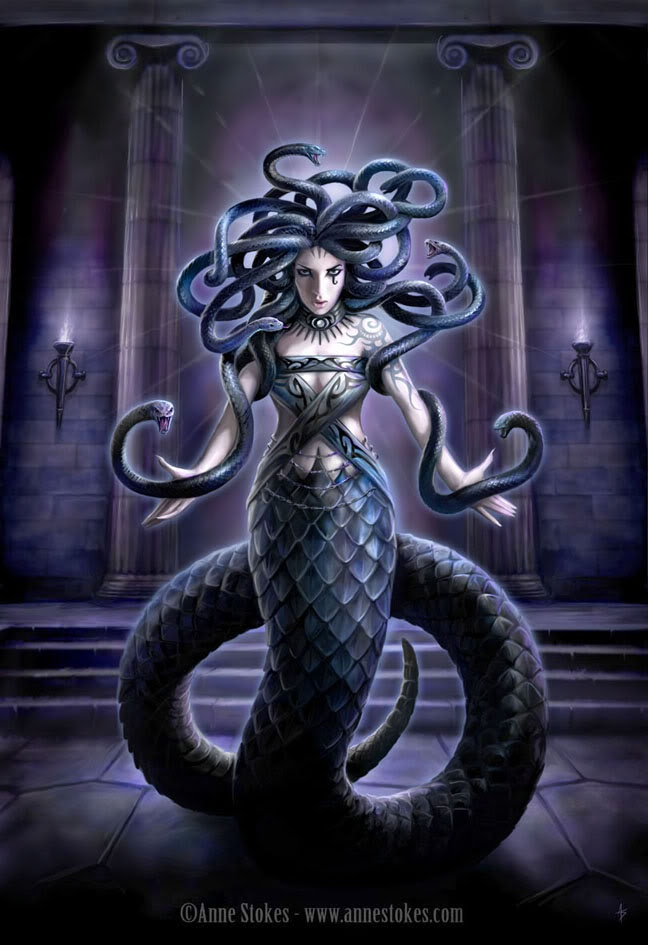 Medusa of Greek Mythology i want to lern more about greek mythology
