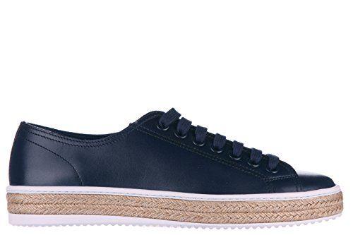 Prada Herrenschuhe Herren Leder Schuhe Sneakers calf blu - http://on-line-kaufen.de/prada/prada-herrenschuhe-herren-leder-schuhe-sneakers-3