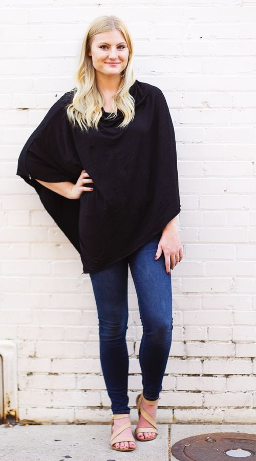 Nursing Poncho: Nursing ponchos are a more stylish, practical way to breastfeed. Our ponchos offer full coverage both front and back making nursing clothing a thing of the past. No fussing with straps