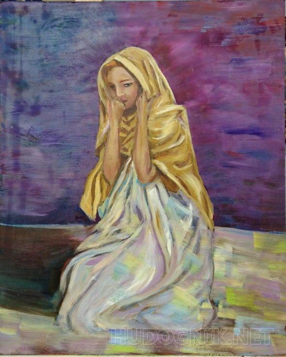 Одиночество Девушка в античных одеждах. Задумчивость. Ожидание. СОмнение