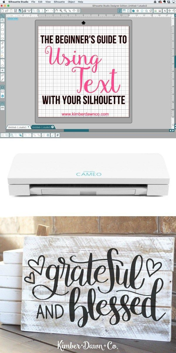 One of the coolest things about the Silhouette CAMEO is that you can use any font that you have installed on your computer to make designs with it. If you are new to your Silhouette this will walk you