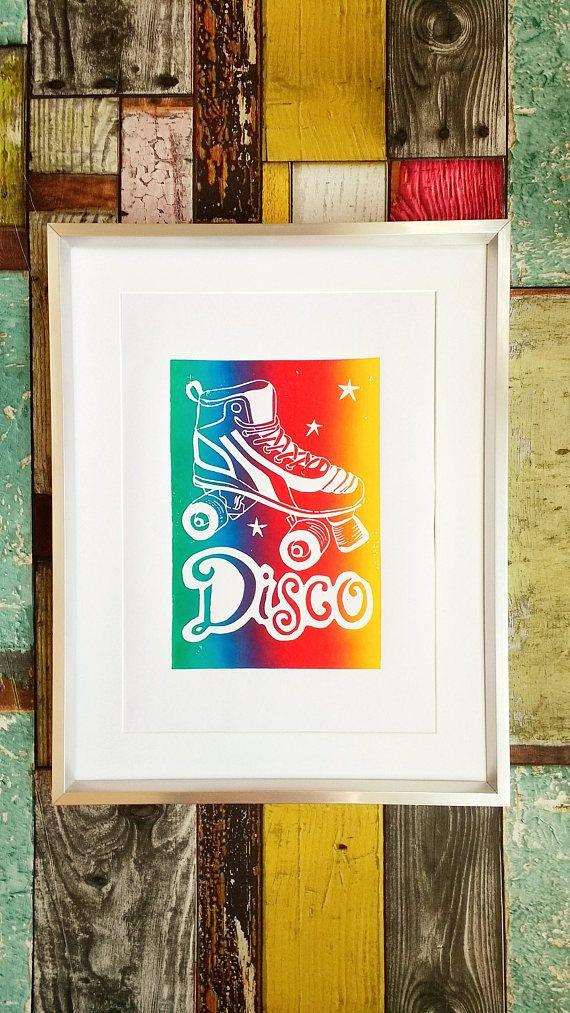 Rainbow Art Rainbow shoes 1980s Wall Art Rainbow Boots