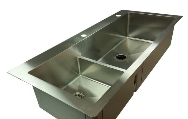 Undermount Stainless Steel Double Bowl Low Divide Kitchen Sink