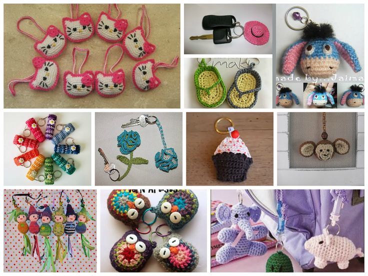 Free Crochet Patterns: Free Crochet Keychain Patterns. FREE PATTERNS 6/14.