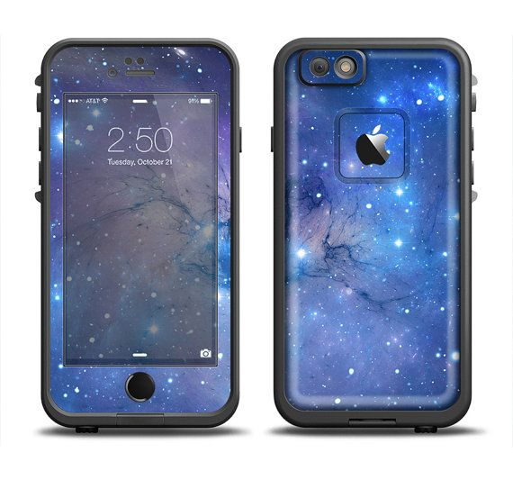 The Blue & Purple Mixed Universe Apple iPhone 6 LifeProof Fre Case Skin Set(Other Models Available!)