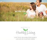 Lead generating website created for MakingAHealthyLiving.com Steph Shaffer for Melaleuca Inc. Network Marketing
