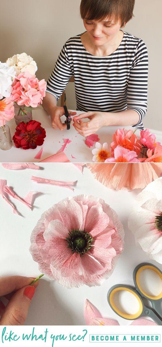 Artist Interview Series – Susan Beech - Lia Griffith - www.liagriffith.com #diyinspiration #paperflower #paperflowers #crepepaperrevival #crepepaperflowers #madewithlia