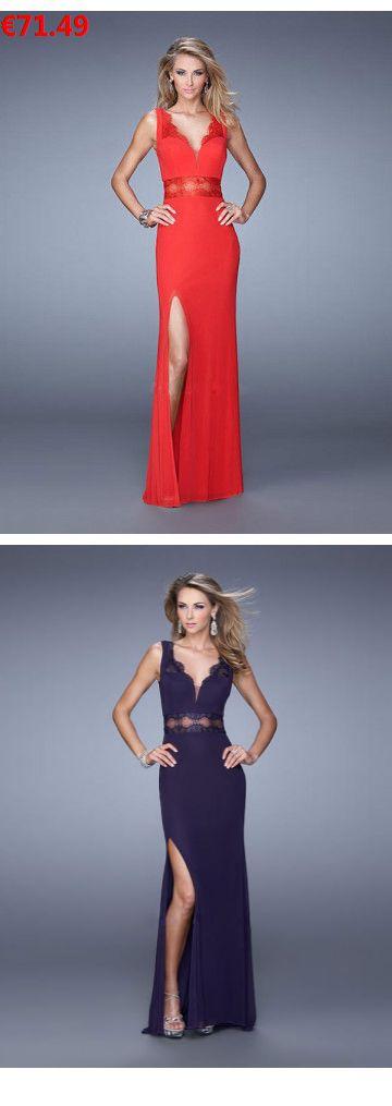 V-Ausschnitt Bodenlange Abendkleider Abendmode mit Spitze günstig                                 Specifications                                              Alle Kleider sind in jeder Größe und Farbe                                            ÄRMELLÄNGE          Ärmellos                                  AUSSCHNITT          V-Ausschnitt                                  Farben