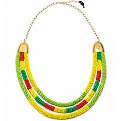 Желто-зеленое ожерелье из бисера «Цвета Жизни»