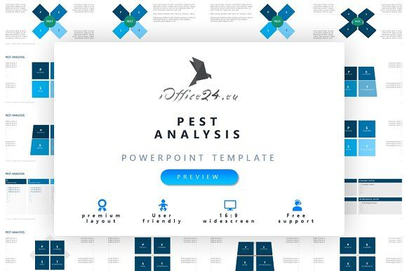 PEST analysis by ioffice24 on @creativemarket
