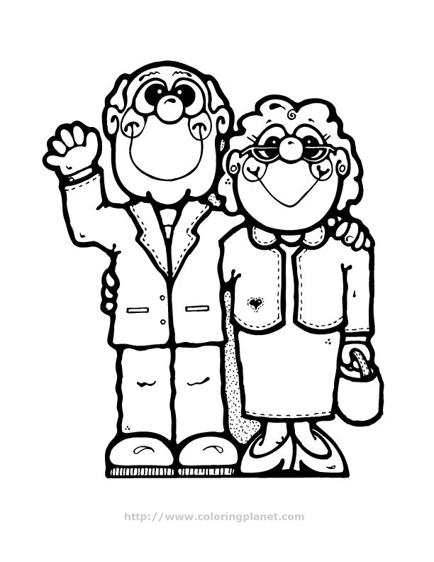 grandparents coloring page Family