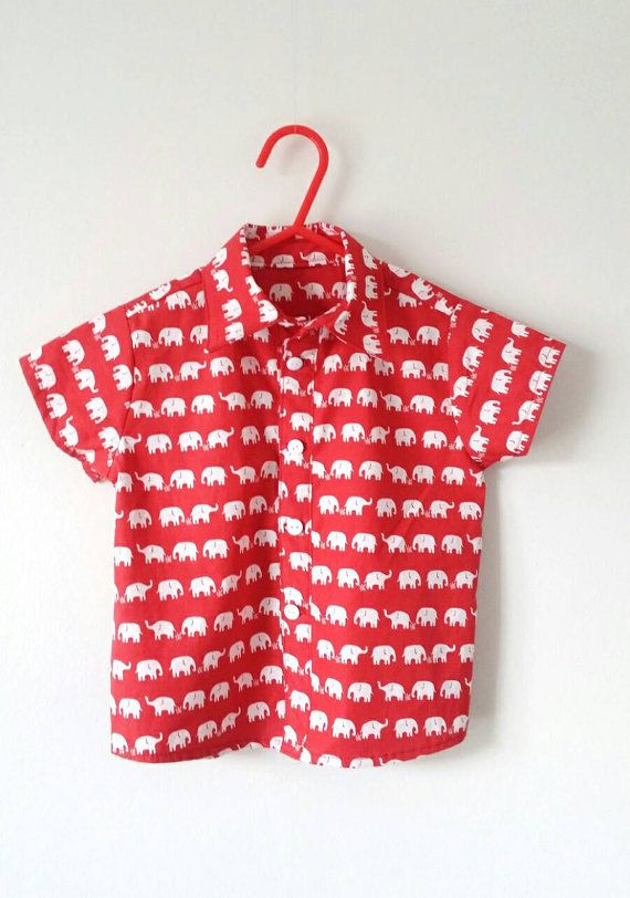 Check out this item in my Etsy shop https://www.etsy.com/uk/listing/295196613/boys-shirt-elephant-top-red-shirt