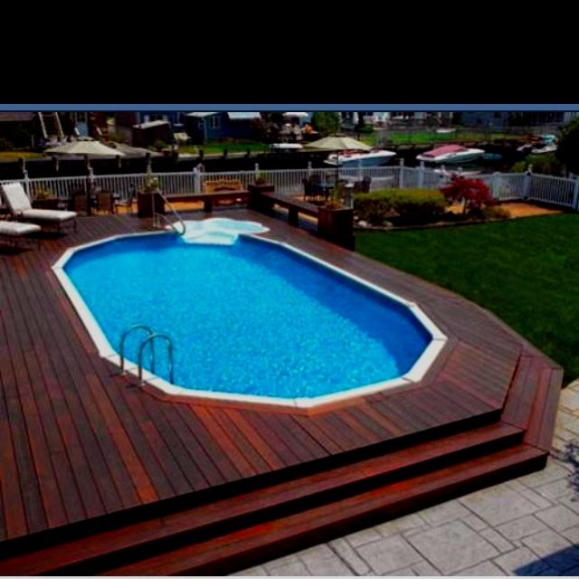 17 Best Images About Above Ground Sunken Pools On