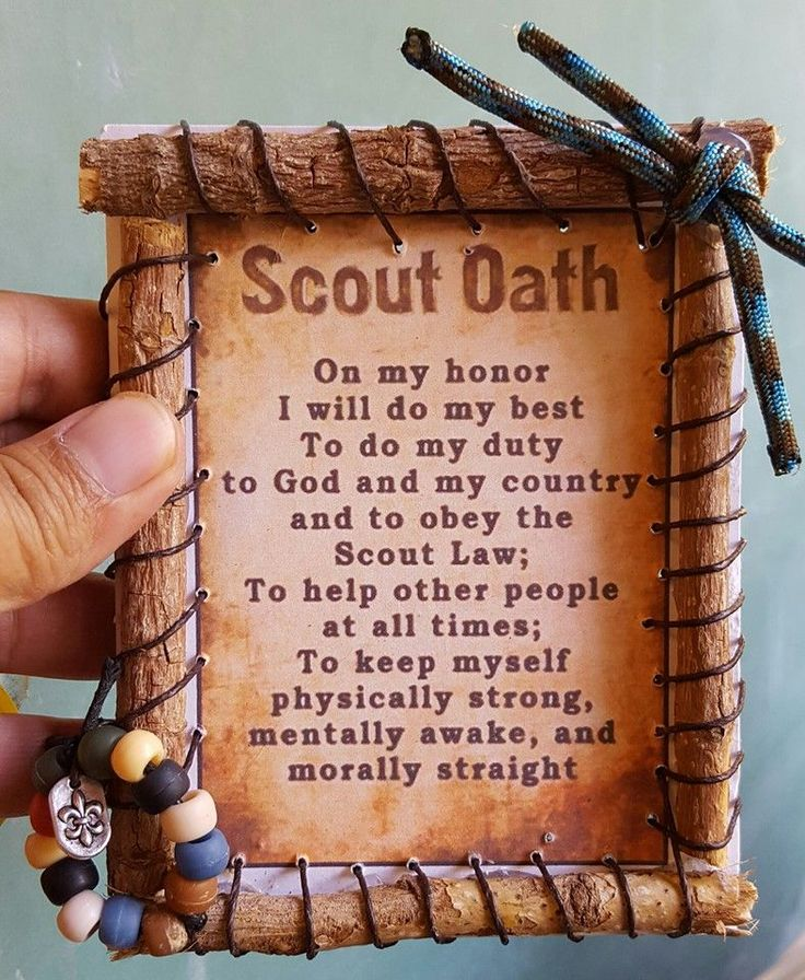 These wall hangings or ornaments are a fun way for boys to become familiar with the Scout Oath or Scout Law. They can be made from the PDF's shared here or you can have the boys write them with their own handwriting. Print or write the oath/law on cardstock and then glue it to a piece of cardboard that is the same size. It needs the strength of the cardboard to support the sticks. Cub Scouts will have fun finding sticks to use for the frame.