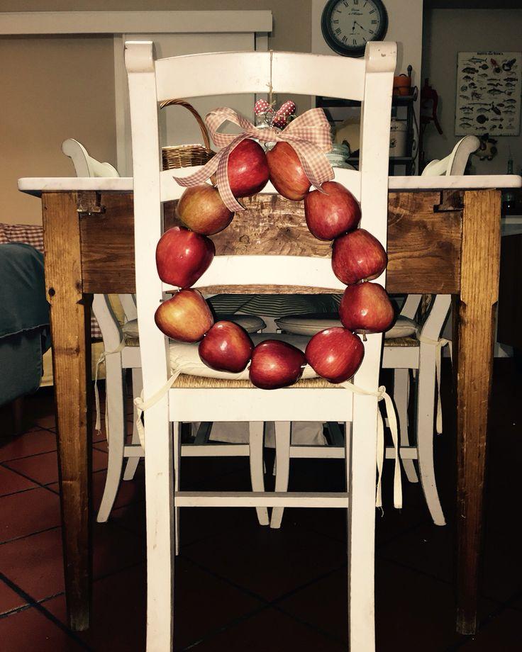 Ghirlanda di mele fatta da me