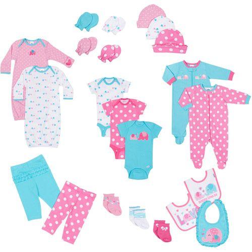 a711492b82 Gerber Newborn Baby Girl 22-Piece Essential Layette Set  Baby Clothing    Walmart.com