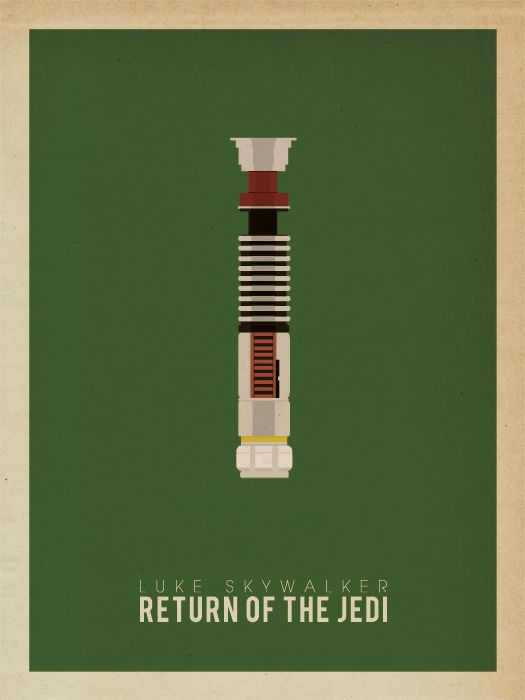 Star Wars Minimalist Posters - Love them! Luke Skywalker