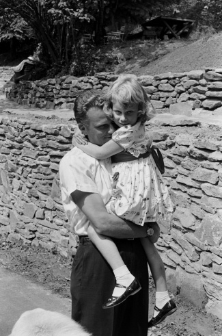Billy Graham and his daughter, Ruth, in 1956