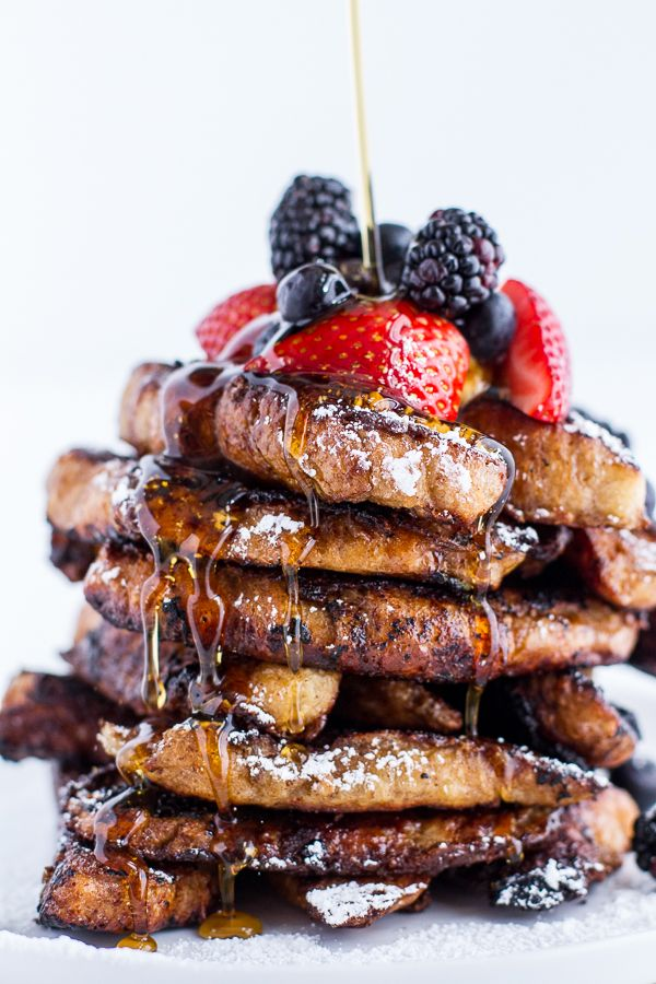 coffee caramelized croissant french toast sticks / half baked harvest