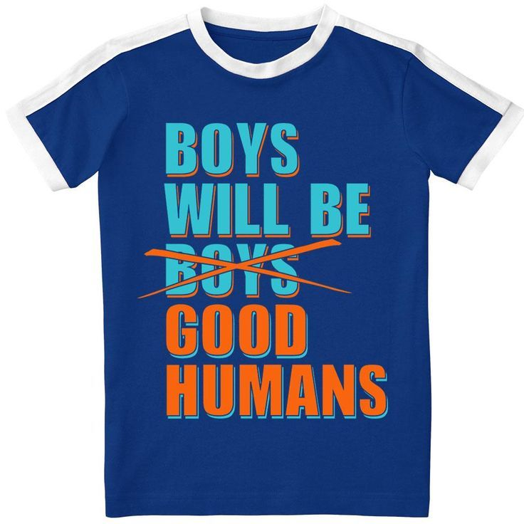 Boys Will Be Good Humans Long Sleeve Baby Onesie