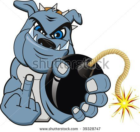 Animated Pictures of Bulldogs | Cartoon Bomb Bulldog. Vector - 39328747 : Shutterstock