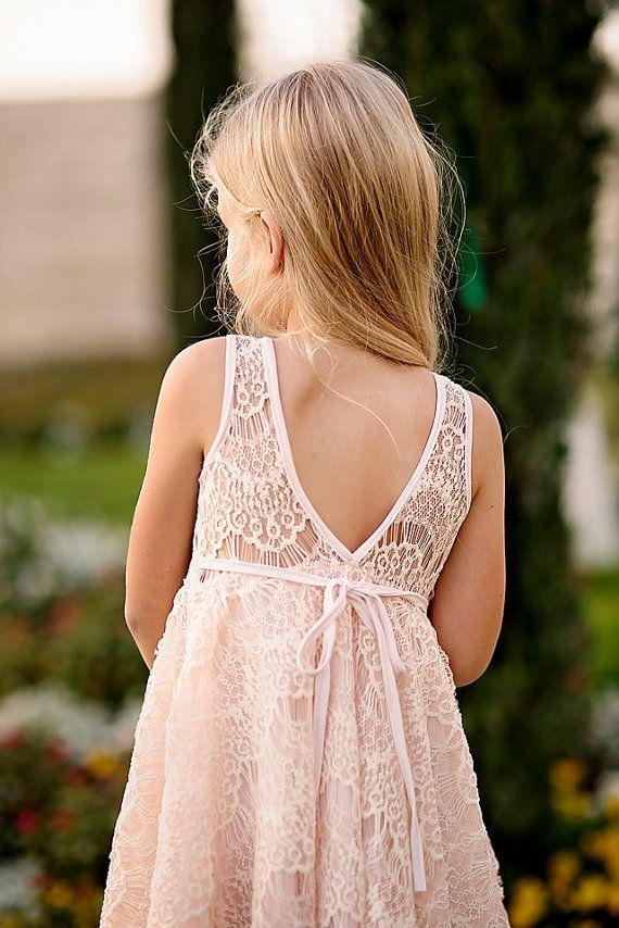 Fard à joues dentelle Flower Girl Dress par Bubale1 sur Etsy