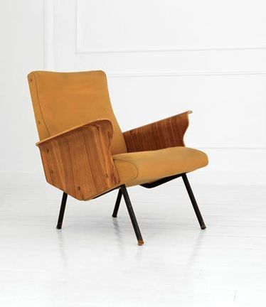 Osvaldo Borsani; Lounge Chair for Tecno, c1954.
