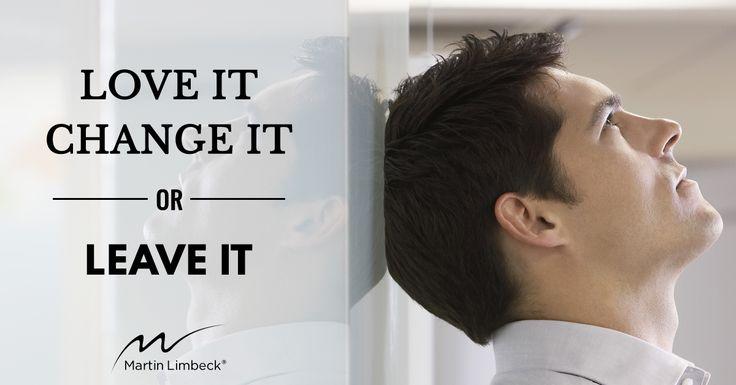 Ihre Einstellung entscheidet über alles - auch im Verkauf!  Walter Rößling zeigt Ihnen im heutigen Monday-Morning-Must, welche Eigenschaften einen Top-Verkäufer ausmachen und was Sie selbst an Ihrer Situation verändern können, wenn Sie frustriert oder unzufrieden sind: http://www.managementtraining.de/2017/01/30/love-change-leave-it-einstellung/