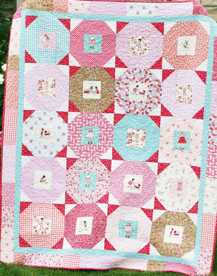 Quilt Pattern PDF girl easy simple lap sewing sarah by QuiltStory
