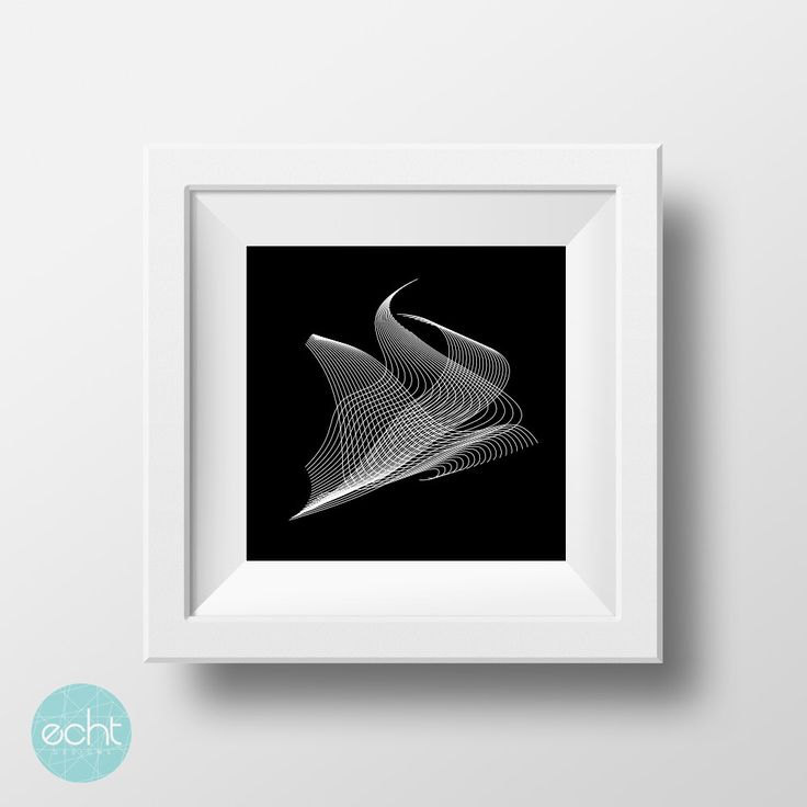 Line Etchings Triangular Waves Geometric Abstract Wall Art, Digital Print by ECHTDESIGNS on Etsy
