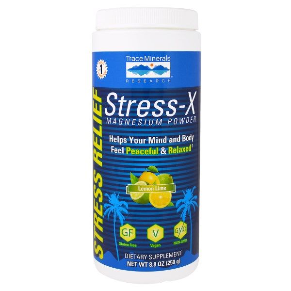 Trace Minerals Research, Stress-X Magnesium Powder, Lemon Lime, 8.8 oz (250 g)  #stress #formula #support #balance #management #iherb #thingstobuy #shopping #relief