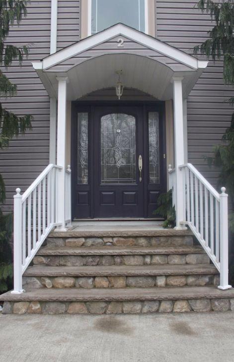 Grey house purple front door color pinterest house - Front door colors for gray house ...