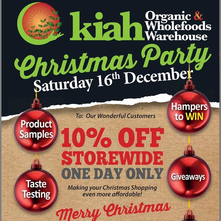Christmas Catalogue Out Now!  We have amazing Christmas specials available in store now (plus an extra special 10% off on Saturday 16th of December!) #KiahChristmas #KiahOrganic #BrisbaneOrganic #Organic #Vegan #Vegetarian #HealthyChristmas #VeganChristmas #OrganicChristmas #BrisbaneChristmas http://ift.tt/2gAXfq6