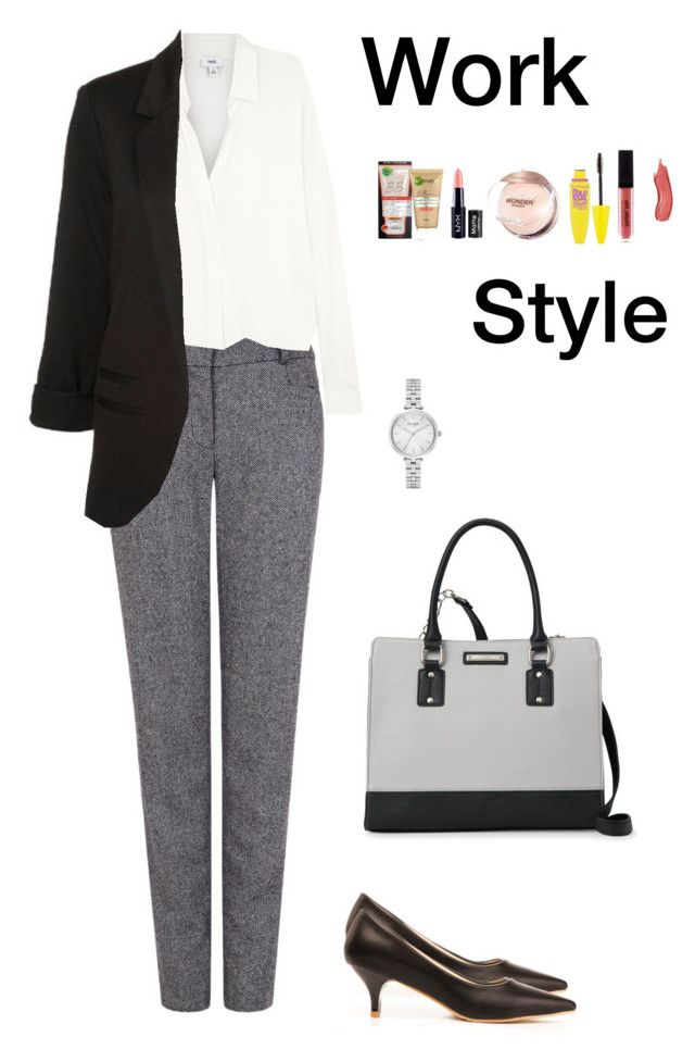 """Work Style (1)"" by irisazlou on Polyvore featuring mode, Pink Tartan, Vince, Nine West, Kate Spade, Garnier, NYX et Maybelline"