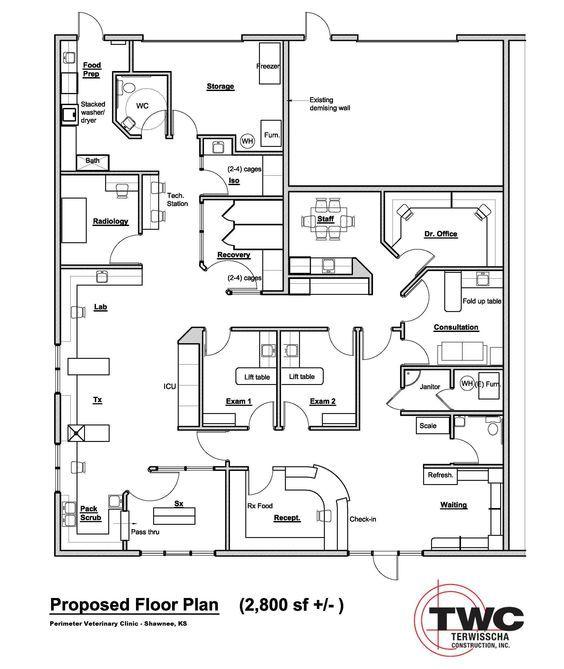 8 best veterinary hospital design images on pinterest for X ray room floor plan