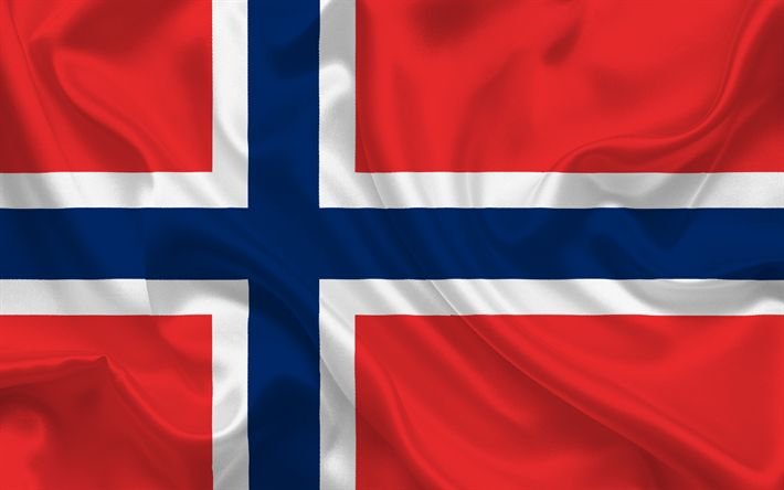 Descargar fondos de pantalla Bandera noruega, Noruega, Europa, la bandera de Noruega, los pabellones Europeos