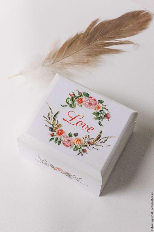 Wooden wedding rings box / Свадебные аксессуары ручной работы. Ярмарка Мастеров - ручная работа. Купить Шкатулка для колец