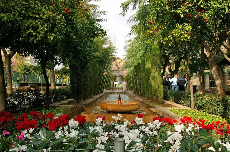 Fontaine • Park • Wasserspiele • Palma de Mallorca