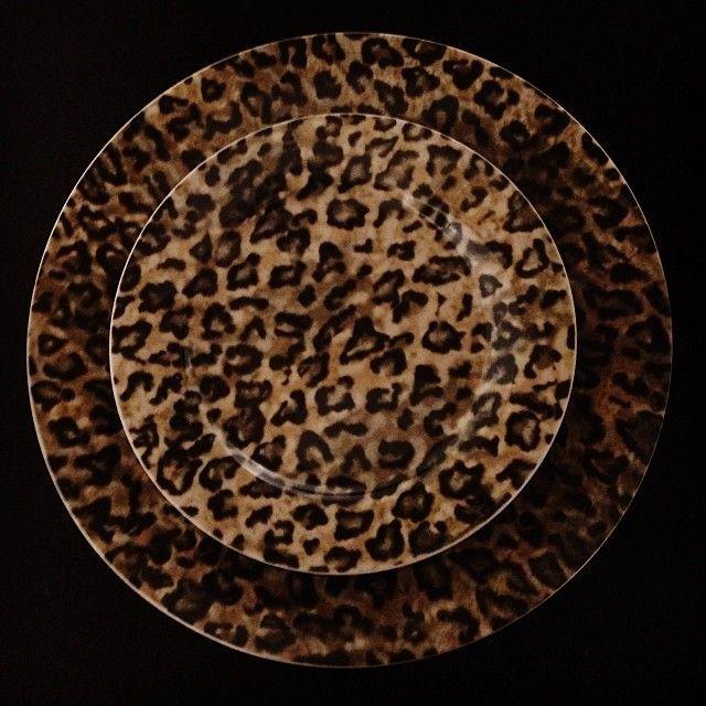 dark leopard print plates. | leopard in 2018 | pinterest | prints ...