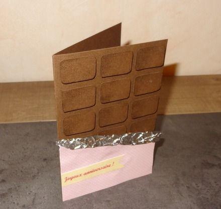 Carte croquer personnalisable tablette de chocolat - Fabriquer un support pour tablette ...