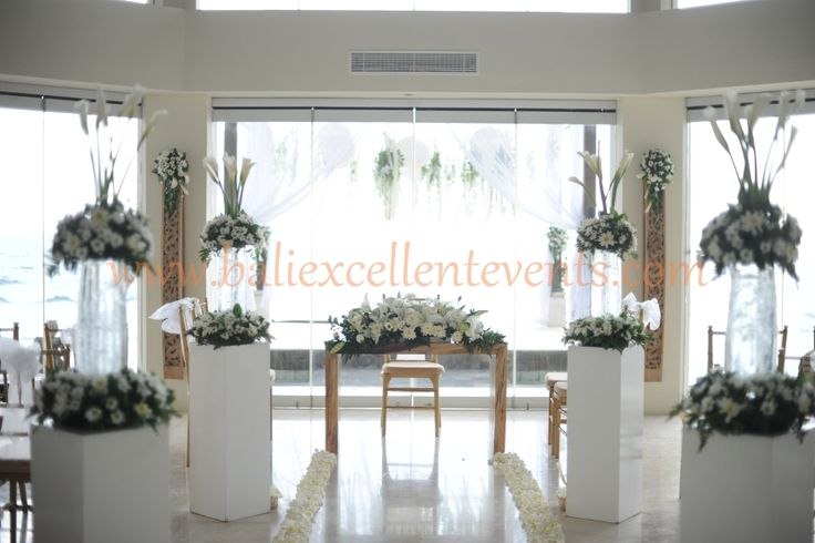 indoor wedding ceremony setup