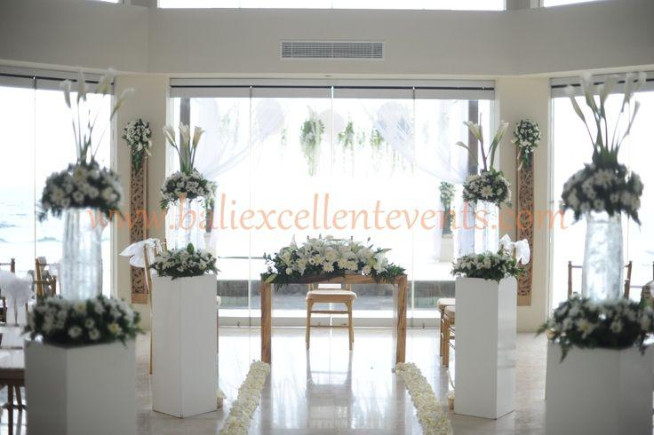 indoor wedding ceremony setup