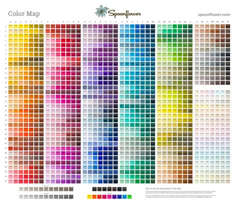 The Spoonflower Color Map is designed to fit on one yard of any fabric and is comprised of nearly 1500 color chips and their corresponding hexadecimal (#) codes (which correspond to RGB colors). You can download a digital copy of our Color Map here. The Color Map is a more advanced color tool than the Color Guide which is available here. This tool is for assisting designers with color selection and is useful for color matching when using a design program like Photoshop. Please note that the…