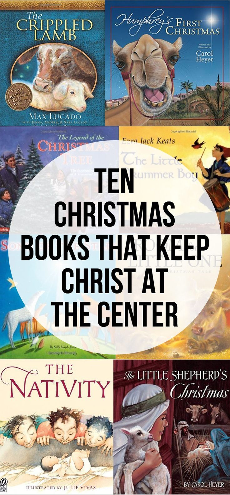 Ten Christmas Books the keep Christ at the Center. Ten Christian Christmas Books.