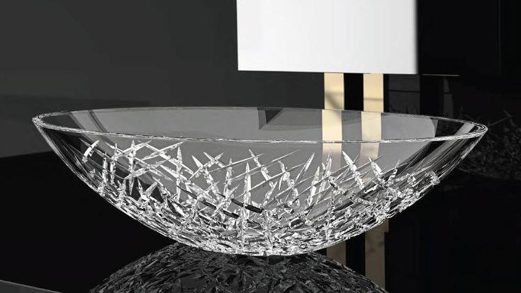 counter top washbasin ICE OVAL  GLASS DESIGN Srl