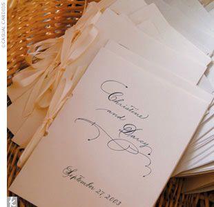 Remember to make wedding bulletins