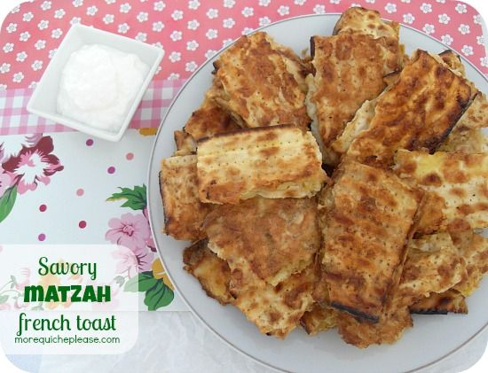 Savory matzah french toast | Mouthwatering | Pinterest