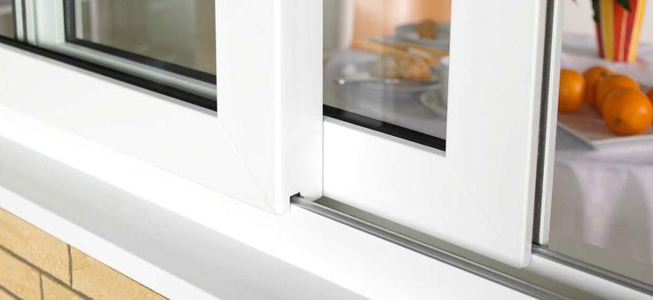 Gealan white sliding window